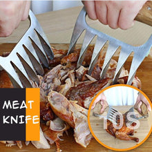 Load image into Gallery viewer, BBQ Forks Practic Baking Stainless Steel/Wood Barbecue Bear Claw Cooking Meat Claws Tableware Shredding