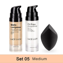Load image into Gallery viewer, Professional Makeup Set Matte Foundation Primer Base Make Up Kit Oil-control Pores Liquid Cream Brand Cosmetic Puff