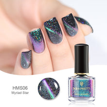 Load image into Gallery viewer, 3D Cat Eye Nail Polish Magnetic Aurora Series 6ml Varnish Magnet Nail Art Lacquer Black Base Needed - moonaro