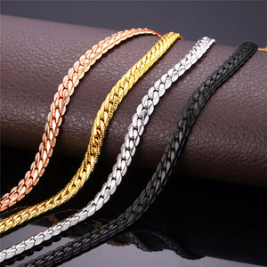 Necklace Choker/Long 9MM/6MM Vintage Punk Black/Silver/Gold Color Miami Chain Hip Hop Chain Gift For Women/Men Jewelry