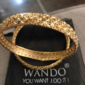 1pcs BIG Luxury Bangles For Women 24k Gold Color Bangle  Gold Color Jewelry Wedding Bracelets gifts - moonaro