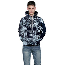 Load image into Gallery viewer, New Fashion Brand Hoodies Men/Women Hooded Hoodies Print Flowers Skulls Thin 3d Sweatshirts Hoody Tops