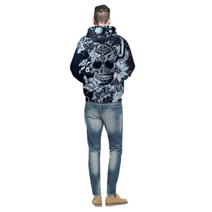 New Fashion Brand Hoodies Men/Women Hooded Hoodies Print Flowers Skulls Thin 3d Sweatshirts Hoody Tops