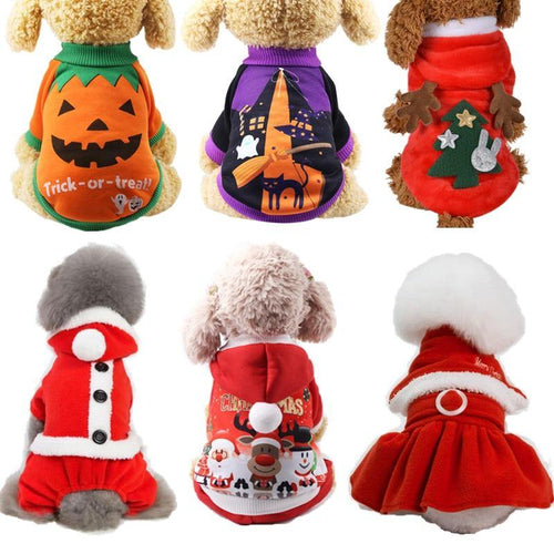 Christmas Pet Clothes for Dogs Clothes Chihuahua Winter Dog Christmas Costume Clothes for Dog Halloween Cat Clothing Hoodie 30