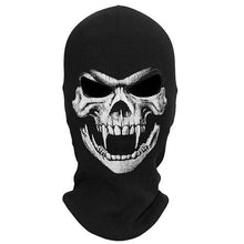Load image into Gallery viewer, 3D Skull Grim Balaclava Motorcycle Full Face Mask Hats Helmet Airsoft Paintball Snowboard Ski Shield Halloween Ghost Death Biker