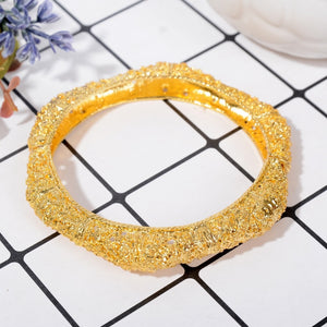 Maxi Punk Bracelet Bangle for Women Mixed Silver & Gold Color Wedding Bracelet Jewelry