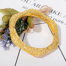 Load image into Gallery viewer, Maxi Punk Bracelet Bangle for Women Mixed Silver & Gold Color Wedding Bracelet Jewelry