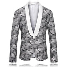 Load image into Gallery viewer, Slim Fit Men's Christmas Blazer Jacket Shawl Collar Men Blazer Designs Fashion Printed Party Prom Stage Blazers