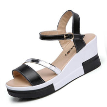 Load image into Gallery viewer, Shoes Summer platform Narrow Band Buckle Strap Style Flat Heel Soft Leather Casual Ankle Strap Woman Beach Sandals - moonaro