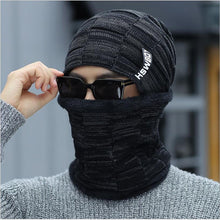 Load image into Gallery viewer, Winter Beanie Hat Scarf skullies beanies Soft Skull Warm Baggy Cap Mask Winter Knitted Hat