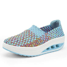 Load image into Gallery viewer, Summer Wedges Flat Platform women's Sandals For Women Shoes Woven Shoes Colorful Breathable Jelly Shoes Woman