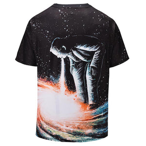 New Fashion Men/Women Brand T-shirt Print Stars Swirl Vortex T-shirt Cool Summer Galaxy Tops Tees