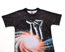 Load image into Gallery viewer, New Fashion Men/Women Brand T-shirt Print Stars Swirl Vortex T-shirt Cool Summer Galaxy Tops Tees