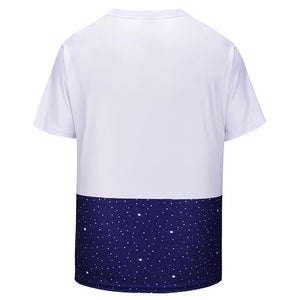 EU Size New Fashion Men/Women T-shirt Print Compass Heart T-shirt Cool Summer Tops Tees - moonaro