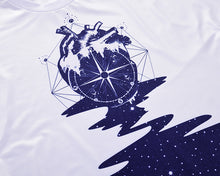 Load image into Gallery viewer, EU Size New Fashion Men/Women T-shirt Print Compass Heart T-shirt Cool Summer Tops Tees - moonaro