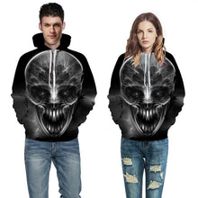 Load image into Gallery viewer, New Fashion Hoodies Men/Women Hooded Hoodies Print Light Shadow Skull Thin 3d Sweatshirts Hoody Tops