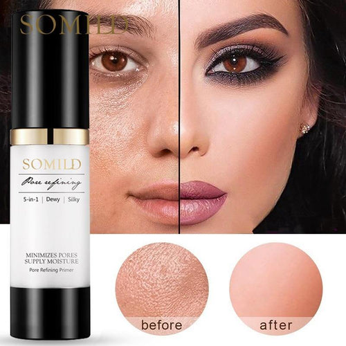 30ML Korean Face Primer Makeup Base Oil-Control Whitening Invisible Pore Facial Matte Make Up Foundation Primer Cosmetics - moonaro