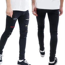 Load image into Gallery viewer, Men's Hip Hop Ripped Fashion Casual Skinny Denim Jeans