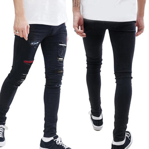 Men's Hip Hop Ripped Fashion Casual Skinny Denim Jeans