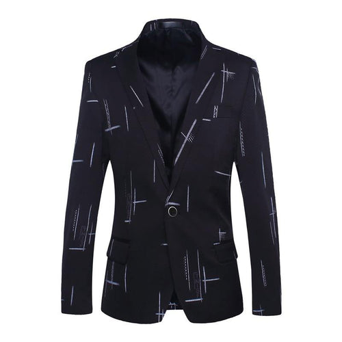 Men's Blazers Casual Spring Autumn Fashion Print Suit Slim Fit Formal Jackets Wedding Blazers