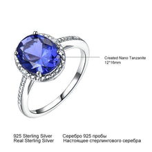 Load image into Gallery viewer, Luxury Tanzanite Rings For Women Solid 925 Sterling Silver Jewelry Gemstone Engagement Ring Sets Wedding Party