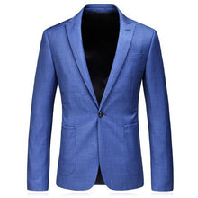 Load image into Gallery viewer, Light Blue Blazer For Men Korean Fashion Clothing Male Blazer Jacket Slim Fit Men's Smart Casual Blazers 5XL Luxury Terno