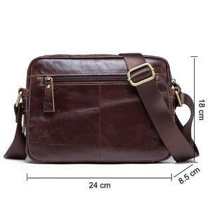 genuine leather men messenger bag for ipad male shoulder bags for credit card luxury brand man's bags with coin pocket - moonaro