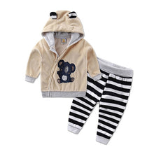 Load image into Gallery viewer, casual winter spring warm hooded zipper long-sleeve outfits baby kid clothes