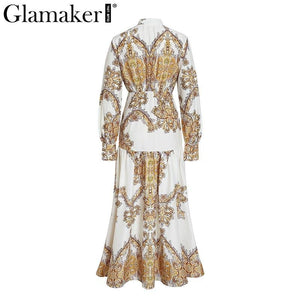 White paisley print elegant vintage women dress Sexy boho maxi Summer beach dresses 2018 split long casual dress festa