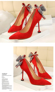High Heel Pumps Women High Heels Shallow Butterfly-knot Woman Sexy Party Wedding Ladies Shoes Women Shoes High Heel