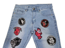 Load image into Gallery viewer, Men's Skinny Embroidery Fashion Casual Hip Hop Pencil Printed Jeans