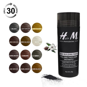 building fibers powder 28g to fix with hair fibers on your hair fibers have 12 colors suitable for lady and men