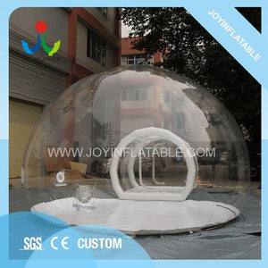 free shipping 6X8M Inflatable Transparent Camping Bubble Globe Tent For Outdoor Show House