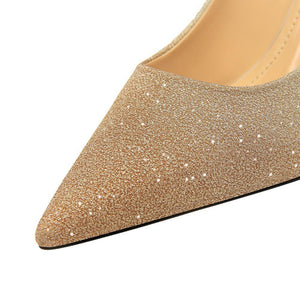 Woman Sequins Pointed Toe Sexy Women Party Wedding Nightclub Mixed Colors