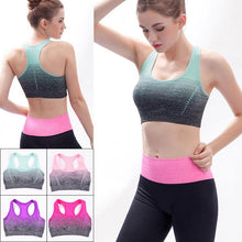 Load image into Gallery viewer, Breathable Sports Bras Women Quick Dry Padded Sports Top for Fitness Yoga Running Gym Seamless Sport vest Top