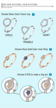 Load image into Gallery viewer, Fashion Luxury 925 Sterling Silver Zirconia Crystal Geometric Ring Women Wedding Party Finger Ring 2019 Romantic Jewelry