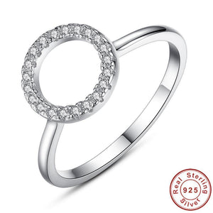 2019 New Cubic Zirconia Ring Fashion Wedding Jewelry Engagement Ring Female Crystal 925 Sterling Silver Rings for women - moonaro