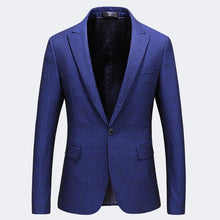 Load image into Gallery viewer, Brand Blue Blazer Masculino Plus Size 5XL Slim Fit One Button Men Formal Jackets High Quality Man Blazer Casual Suit Jacket - moonaro