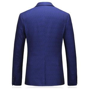 Brand Blue Blazer Masculino Plus Size 5XL Slim Fit One Button Men Formal Jackets High Quality Man Blazer Casual Suit Jacket - moonaro