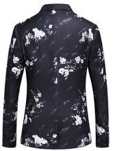 Load image into Gallery viewer, Floral Print Blazer Men Rose Flower Pattern Stage Party Prom Blazer For Men 5XL Slim Fit Mens Blazers Casual