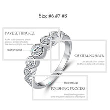 Load image into Gallery viewer, Valentines Gift Real 925 Sterling Silver Ring Sparkling Clear CZ Crystal Finger Ring for Women Wedding Engagement Jewelry