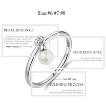 Load image into Gallery viewer, Genuine 925 Sterling Silver Twisted Knot & Simulated Pearl Finger Rings for Women Authentic Silver Rings Wedding Jewelry