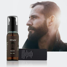 Load image into Gallery viewer, 30ml Natural Organic Beard Oil Beard nourishing Growth oil beards hair Thicker Essence Mustache Thick Hair Loss Care