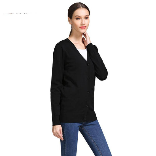 Classic Soft Women Uniform Maternity Cardigan Sweater Long Sleeve Spring Autumn Stretch Breastfeeding Clothes Nursing