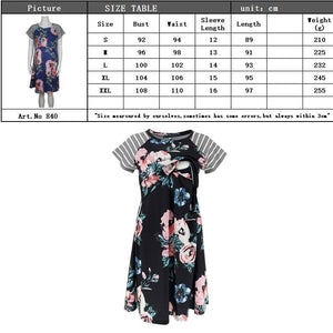 Summer Fashion Solid Color Vestido nursing dress Maternity Clothing Casual Dresses for pregnant women