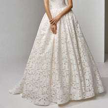 Load image into Gallery viewer, Wedding Dresses Backless Vintage A Line Floor Lengths Sleeveless V-neck Long Wedding Dress