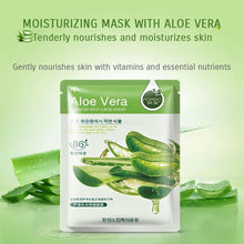 Load image into Gallery viewer, 10 Pcs/Lot sheet mask Skin Care Plant Facial Mask Moisturizing Oil Control Blackhead Remover Wrapped Mask Face Mask - moonaro