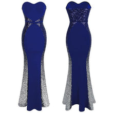 Load image into Gallery viewer, New Prom Dresses Gradient Sequin  robe de soiree abendkleider Splicing Dress Blue