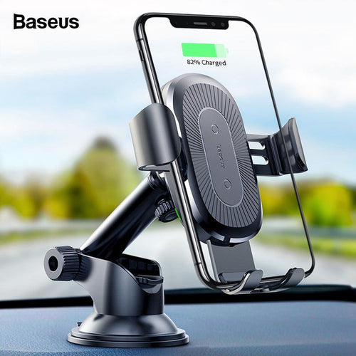 10W Wireless Car Charger For iPhone Xs Max X Samsung S10 Xiaomi Mi 9 Qi Wireless Charger Fast Charging Car Phone Holder