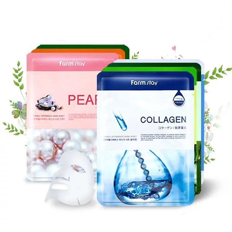 Korea cosmetics  facial mask mixed pack 8 kinds, moist brighten hydrating pore shrink face Mask treatment